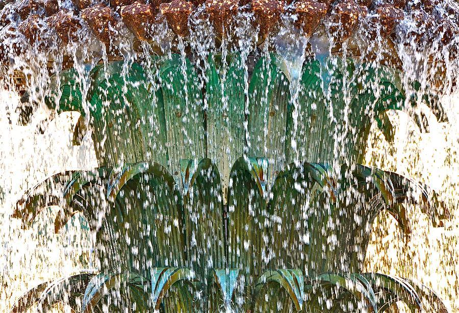 Water Fountain Bright Charleston Photograph by Lori Kesten