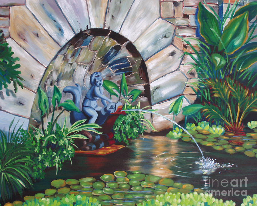 Water Fountain Painting