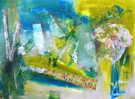 Mixed Media Painting - Water Garden by Susan McCrae