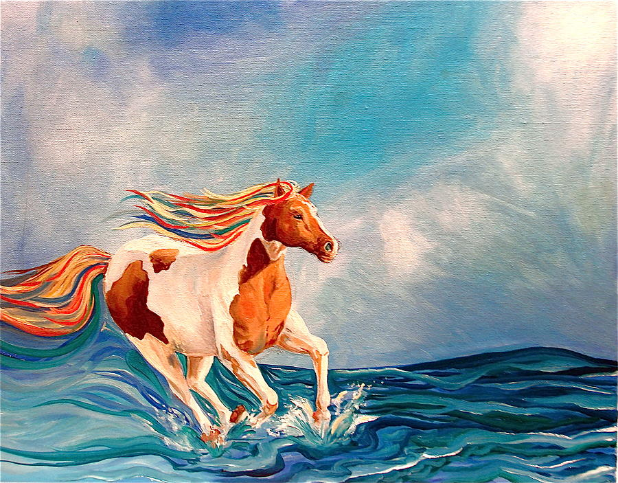 Horse Painting - Water Horse by Rebecca Robinson