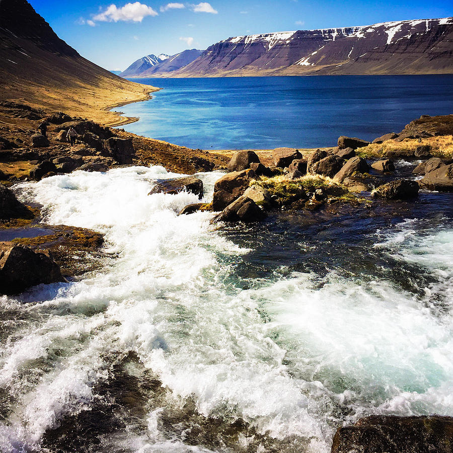 Iceland Photograph - Water in Iceland - beautiful West Fjords by Matthias Hauser