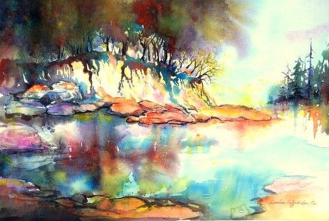 Water Inlet Painting - Water Inlet by Caroline Patrick