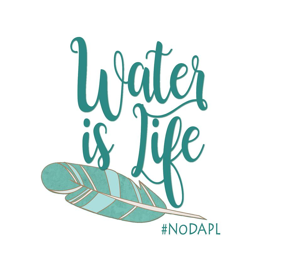 Dakota Digital Art - Water Is Life Nodapl by Heidi Hermes