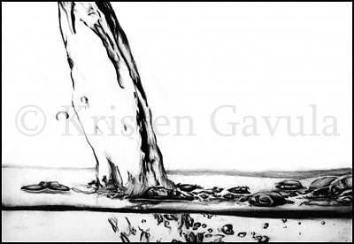 Water Drawing - Water by Kristen Gavula