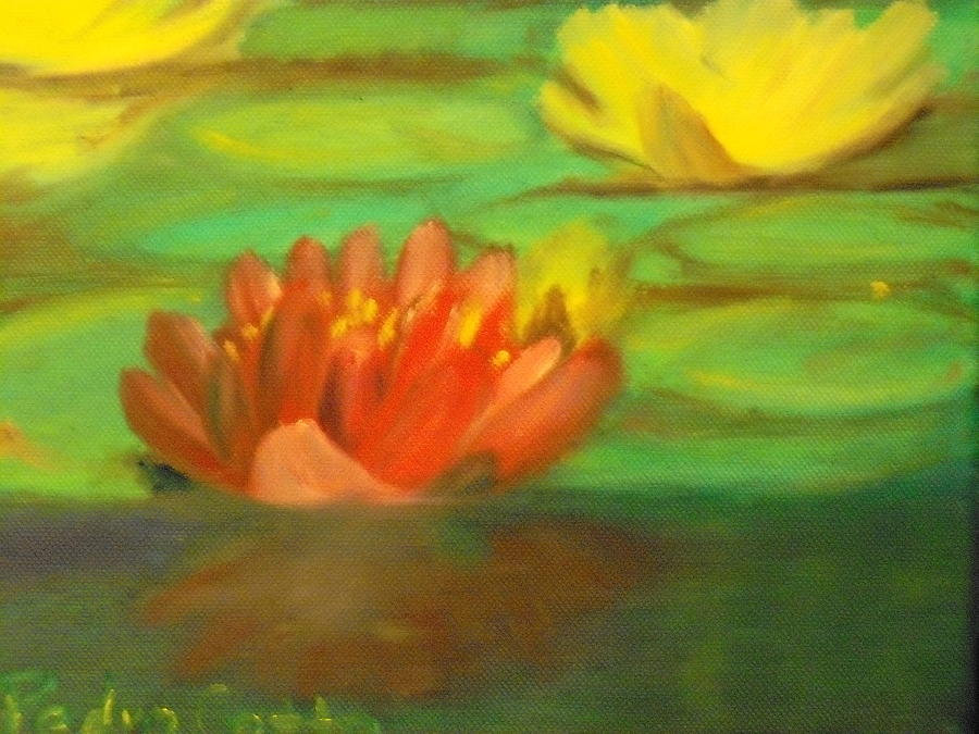 Flower Painting - Water Lilie by Pedro Cotto