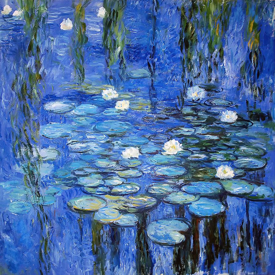 Lily Photograph - water lilies a la Monet by Joachim G Pinkawa