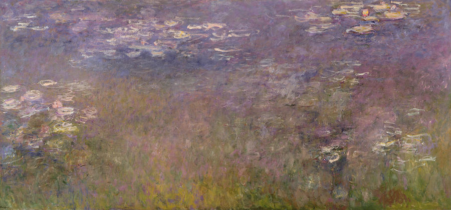 Water Lilies Agapanthus Painting By Claude Monet