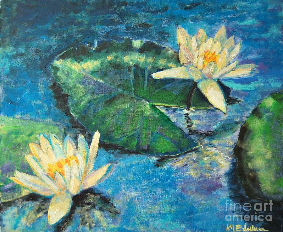 Water Lilies Painting by Ana Maria Edulescu