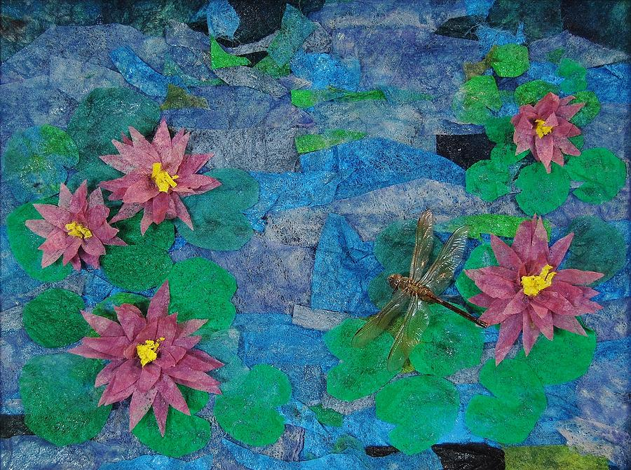 Dryer Sheets Mixed Media - Water Lilies by Charla Van Vlack