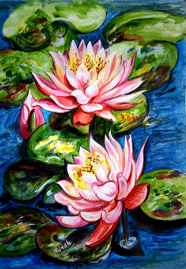 Water Lilies Painting - Water Lilies  by Harsh Malik