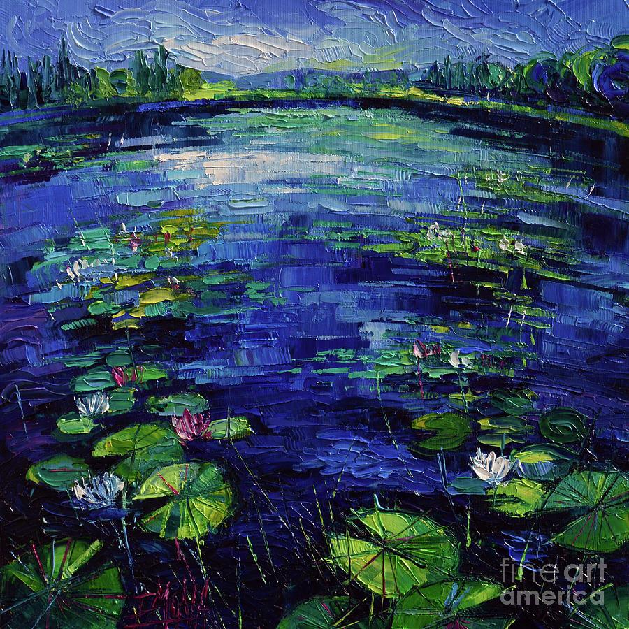 Water Painting - Water Lilies Magic by Mona Edulesco