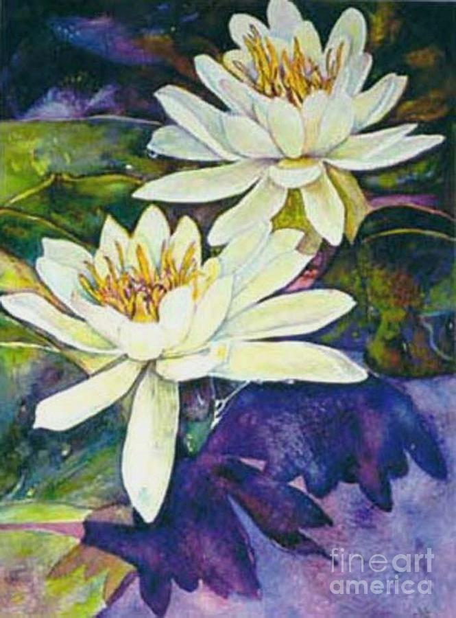 Flower Painting - Water Lilies by Norma Boeckler