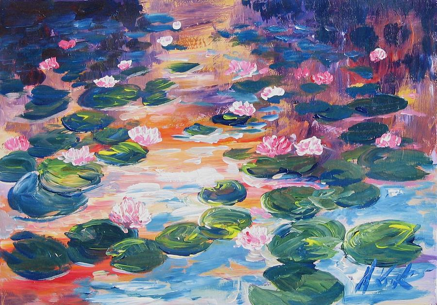 Water Lillies Painting by Kruk