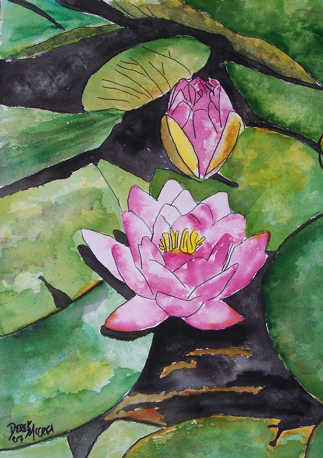 Water Lily Painting - Water Lily by Derek Mccrea