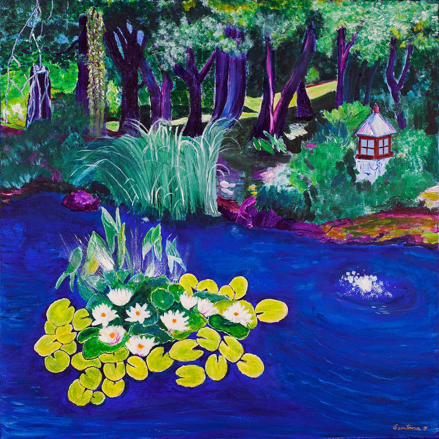 Water Lily Garden  30x30 by Santana Star