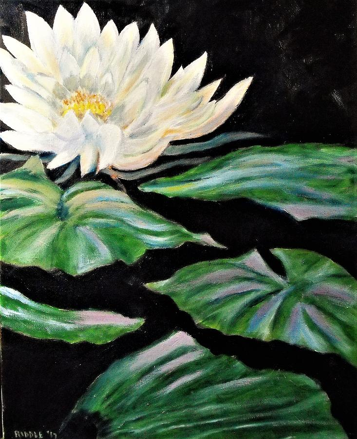 Monet Painting - Water Lily by Jack Riddle