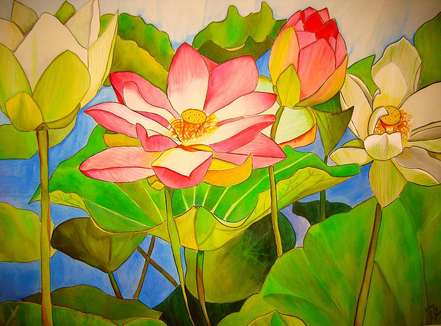 Lotus Painting - Water lily Lotus by Sacha Grossel