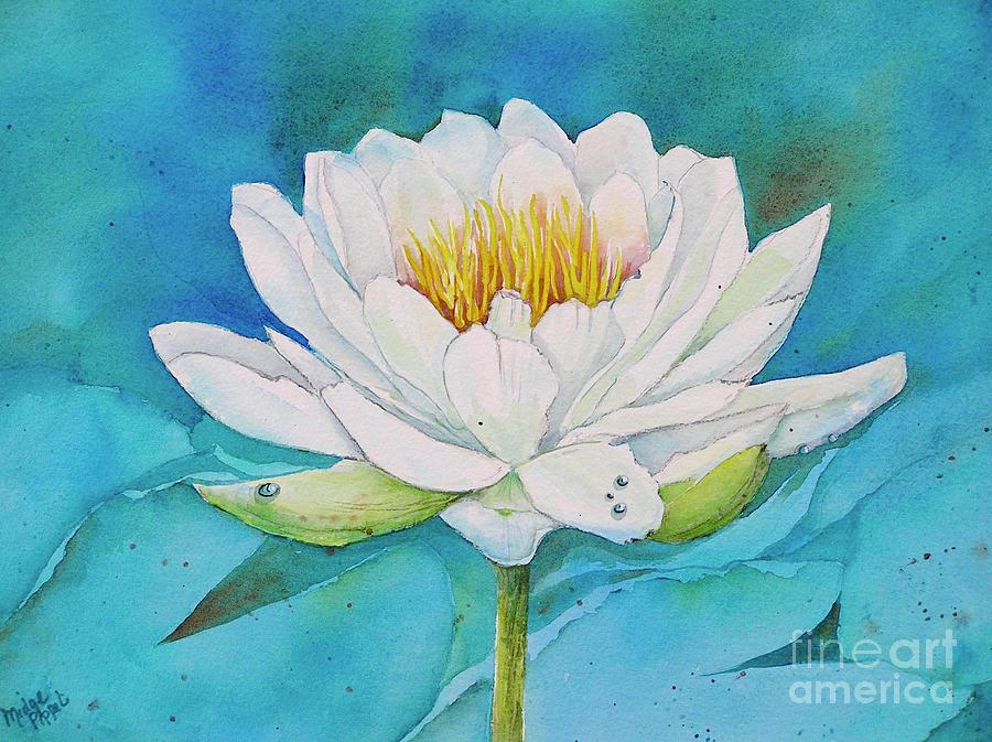 Water Lily Painting - Water Lily by Midge Pippel