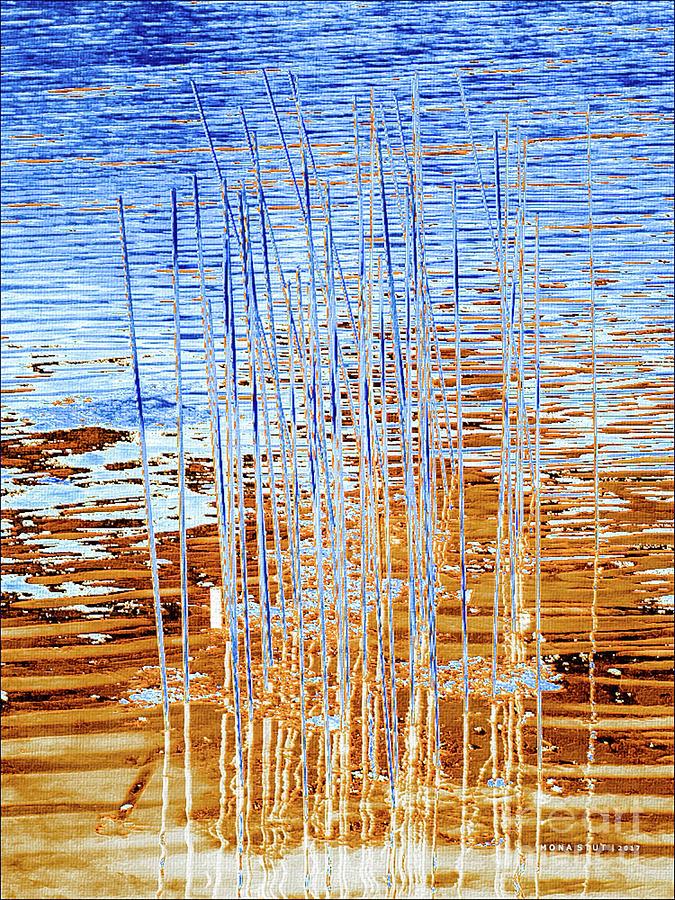 Textured Water Lines Digital Art