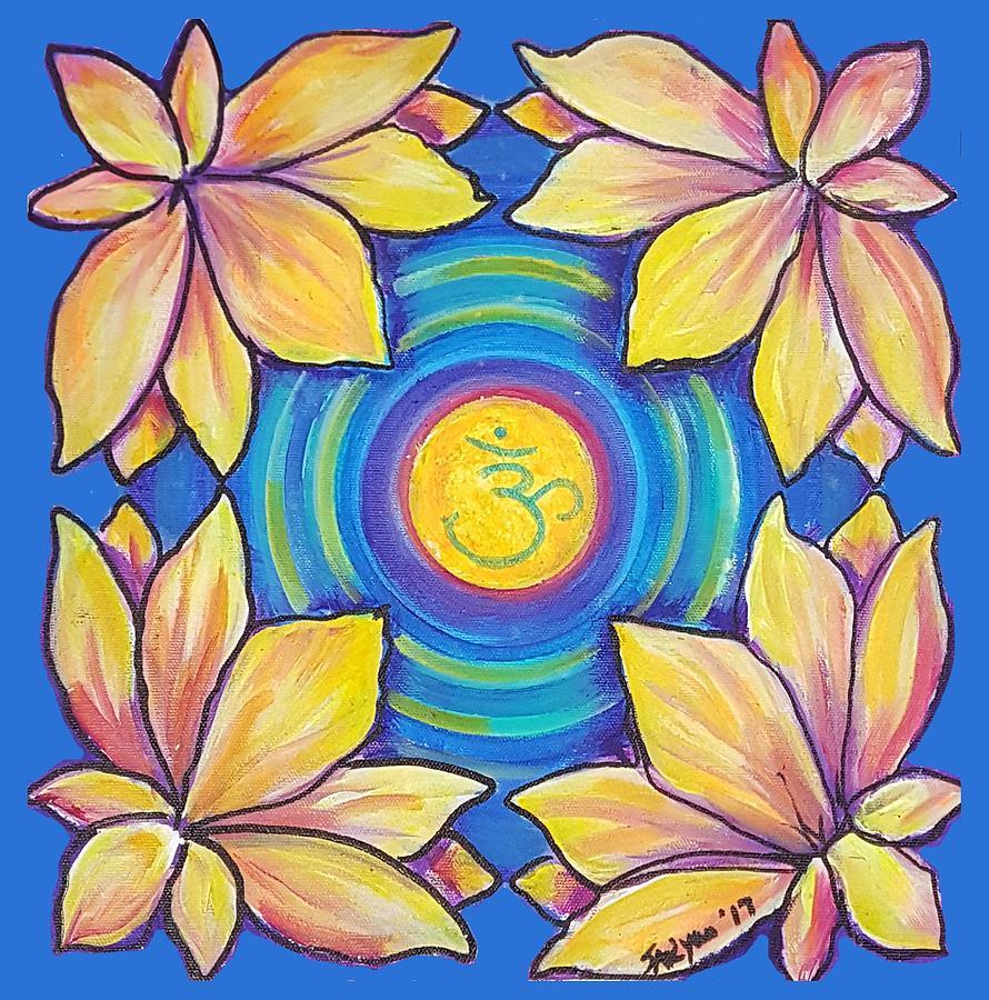 Mandala Painting - Water Locusts 2 by Sue Beck-Ryan