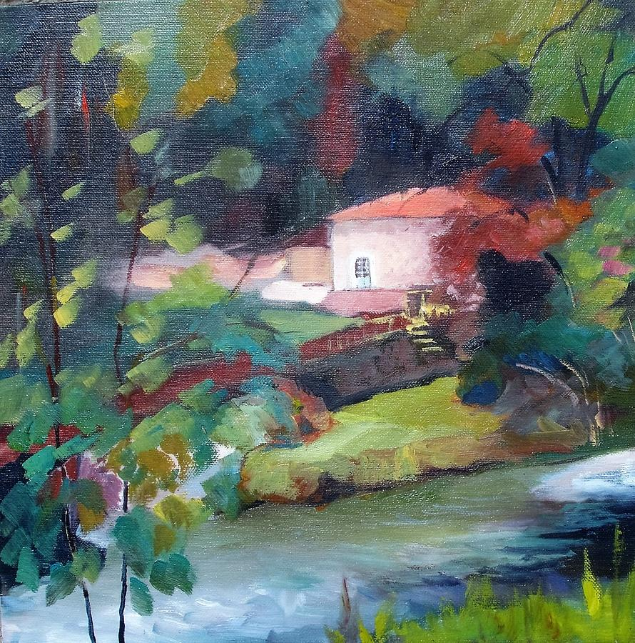 Water Mill Theillaud On The Gartempe 87 Painting