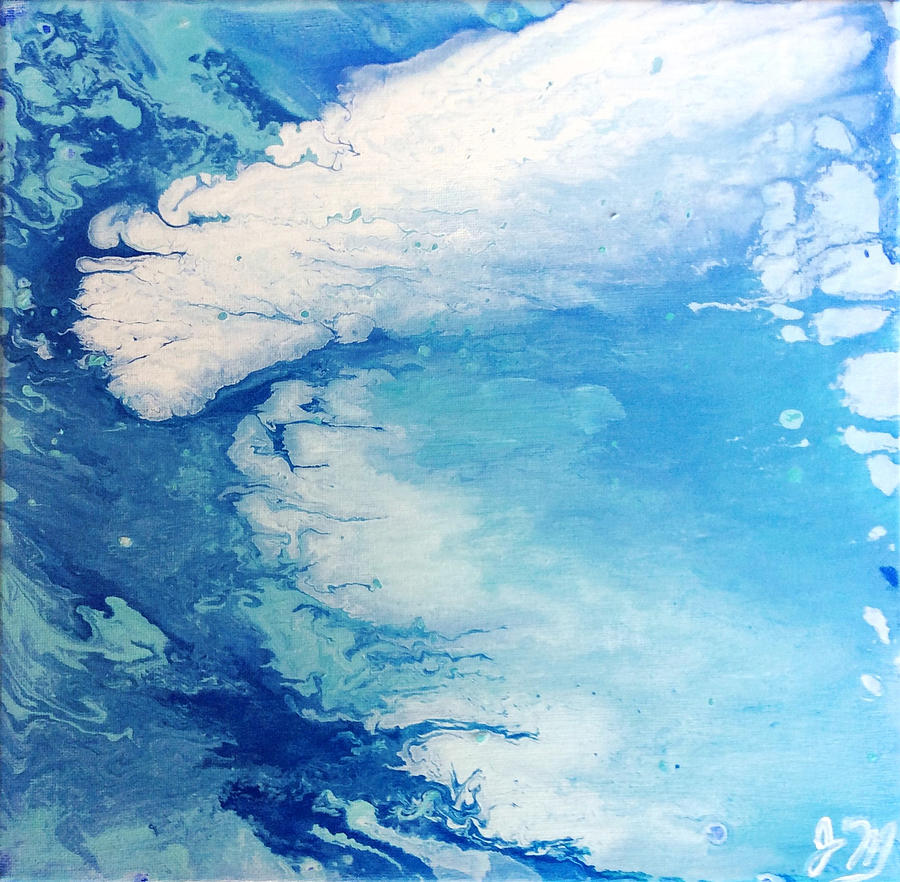 Water Painting - Water Miracles #3 by Jacqueline Martin