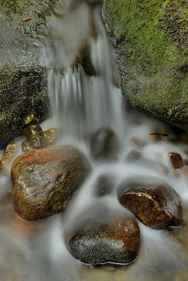 Stream Photograph - Water Movement Detail by Stephen  Vecchiotti