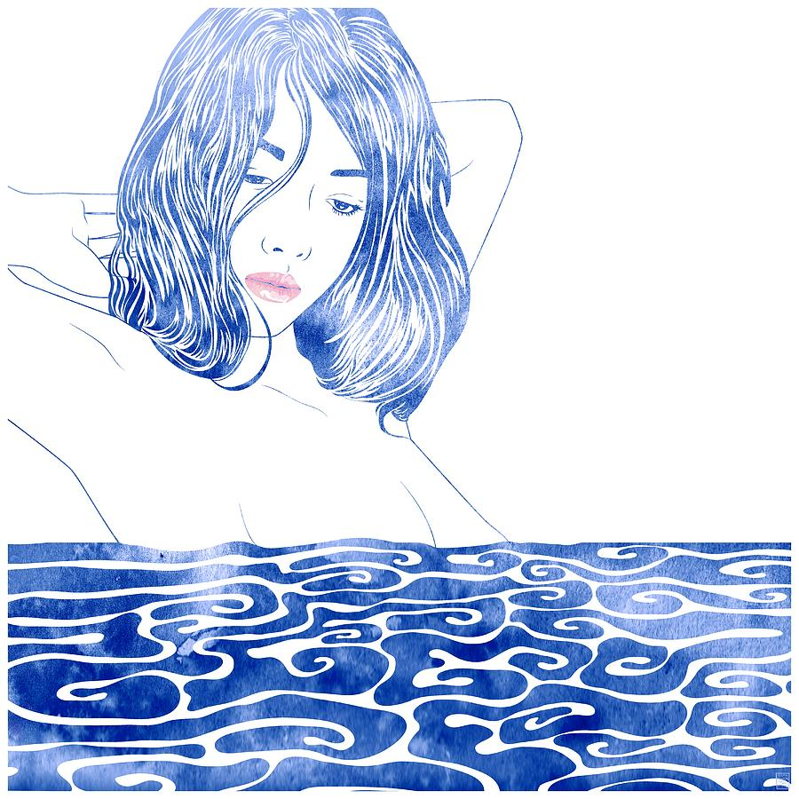 Selkie Mixed Media - Water Nymph Lxxxi by Stevyn Llewellyn