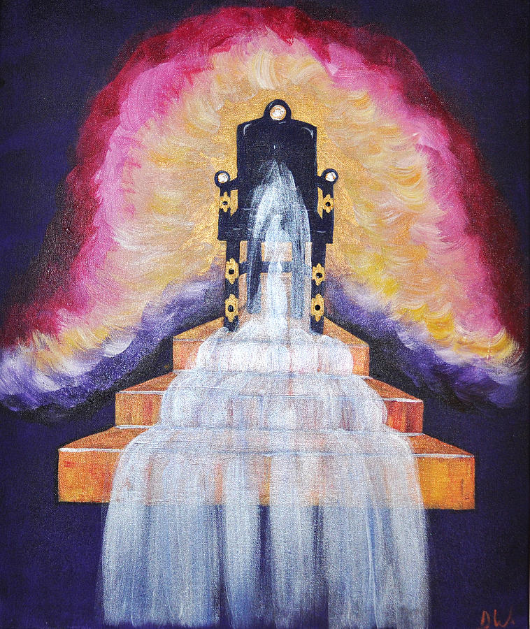 Throne Painting - Water Of Life by Denise Warsalla