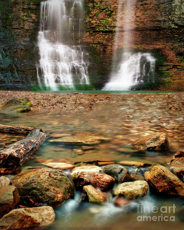 Waterfall Photograph - Water Path by Tamyra Ayles