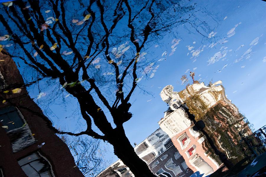 Europe Photograph - Water Reflection - Amsterdam  by John Battaglino