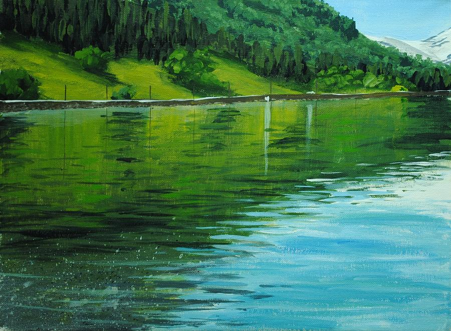 Acrylic Painting - Water Reflections by Nolan Clark
