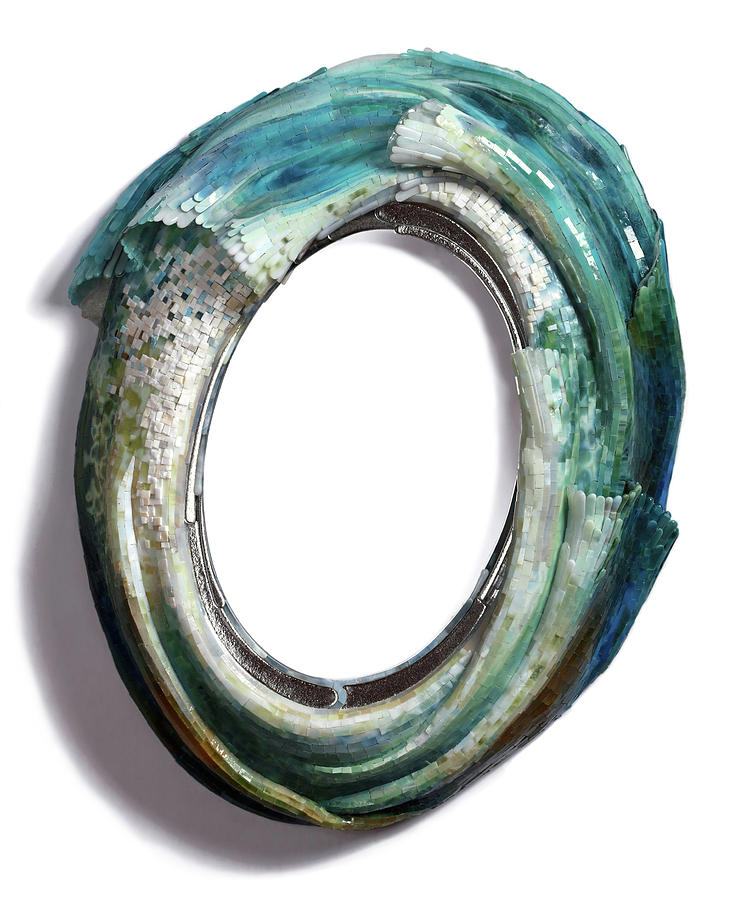 Water Ring I Glass Art