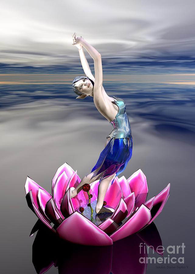 Bryce Digital Art - Water Sprite by Sandra Bauser Digital Art