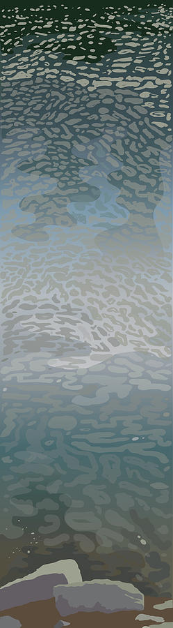 Water Painting - Water Surface by Marian Federspiel