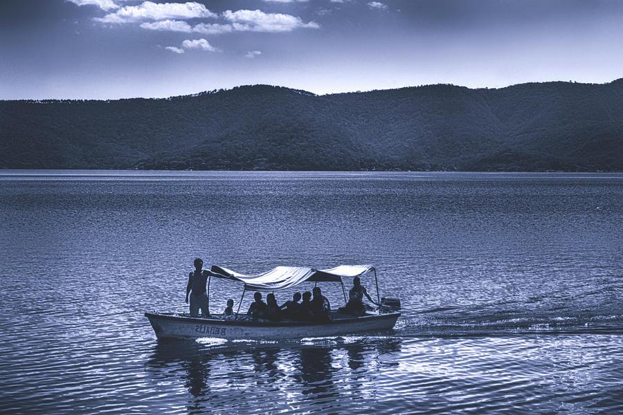 Ferry Photograph - Water Taxi - Lago De Coatepeque - El Salvador by Totto Ponce