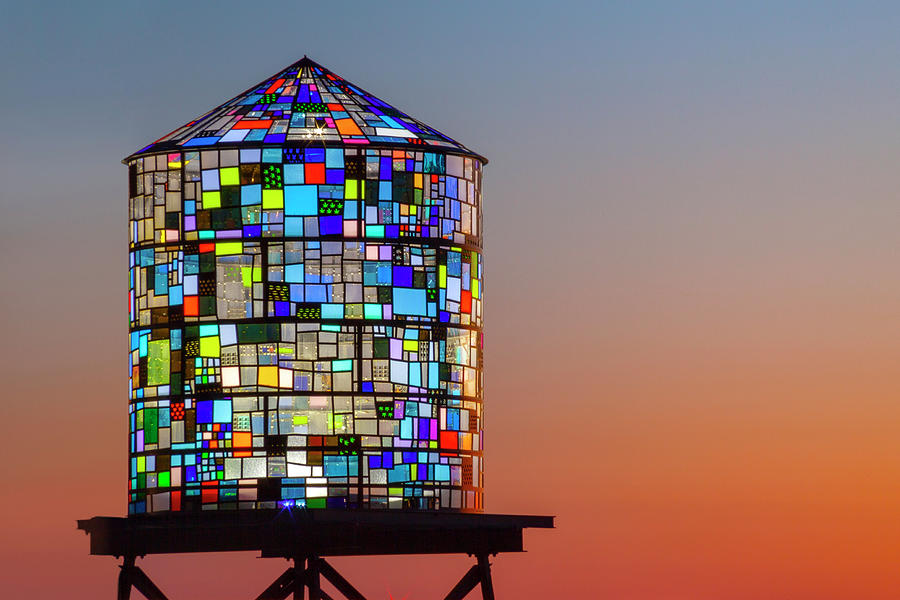 Water Tower Photograph - Water Tower by Lorrie Joaus