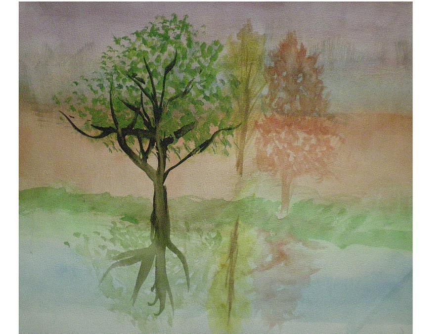 Landscape Painting - Water Trees by Hal Newhouser
