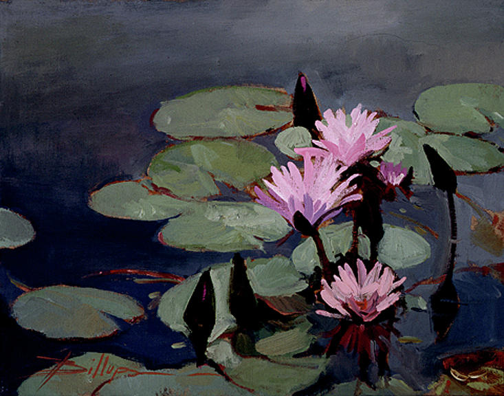 Floral Painting - Water Trio - Water Lilies by Betty Jean Billups