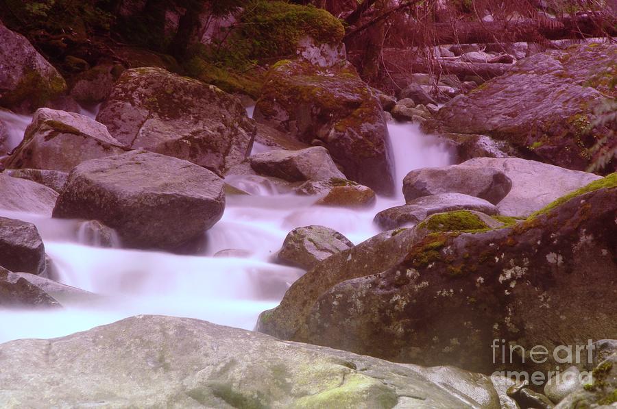 Water Photograph - Water Winding Through Rocks by Jeff Swan