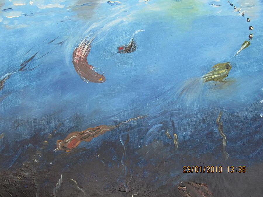 Water World Painting - Water World by Anusha Garg