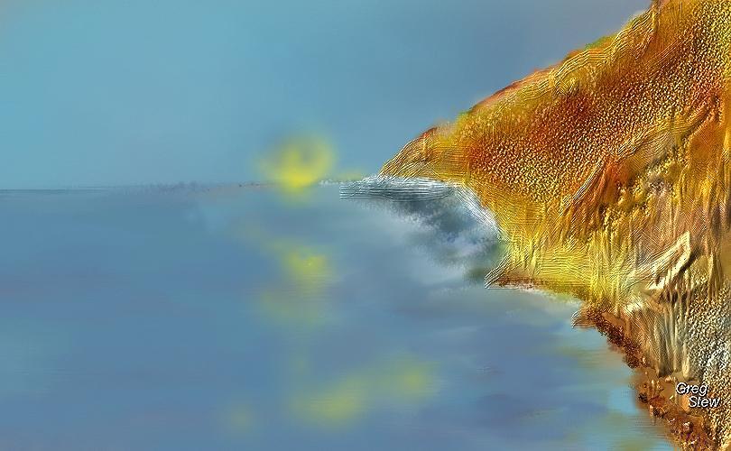 Waterscape Digital Art - Watercliff Entrance by Gregory Steward
