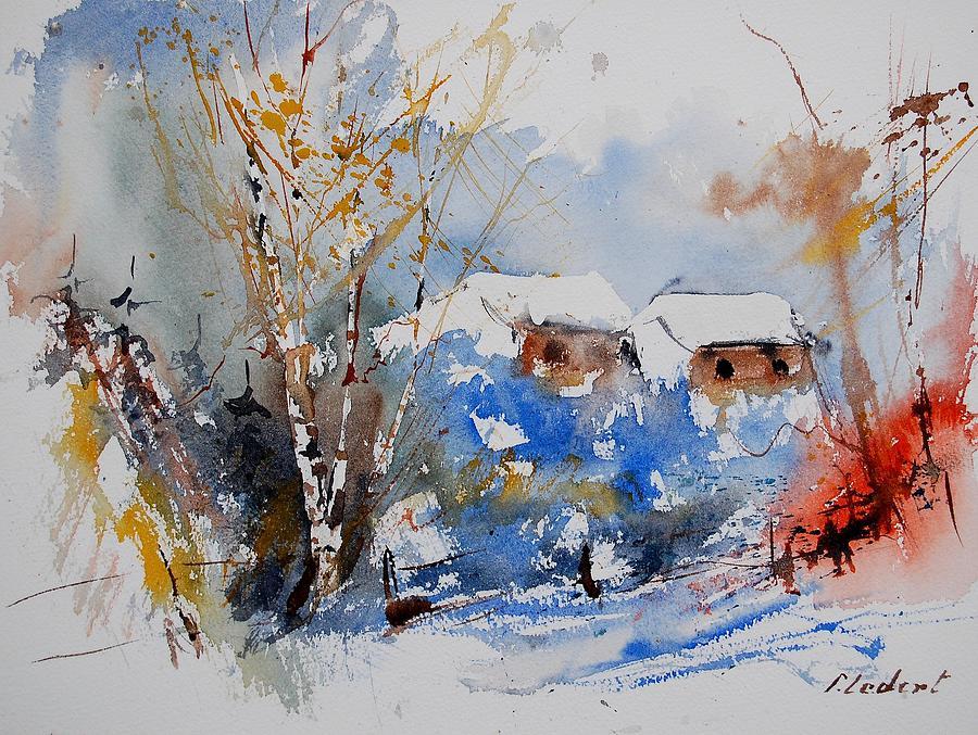 Landscape Painting - Watercolor  011020 by Pol Ledent