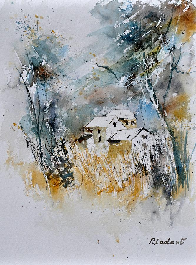 Landscape Painting - Watercolor 015060 by Pol Ledent
