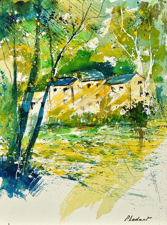 Landscape Painting - Watercolor 115080 by Pol Ledent