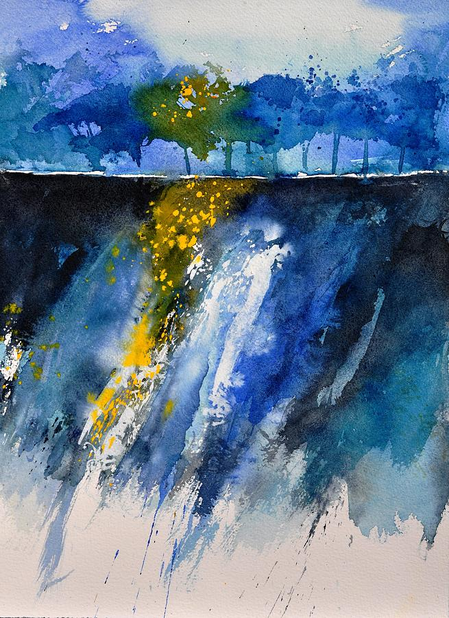 Abstract Painting - Watercolor 119001 by Pol Ledent
