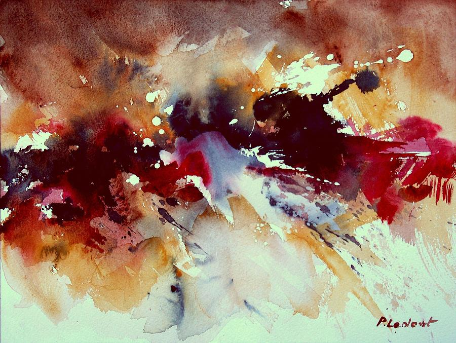 Abstract Painting - Watercolor 301107 by Pol Ledent