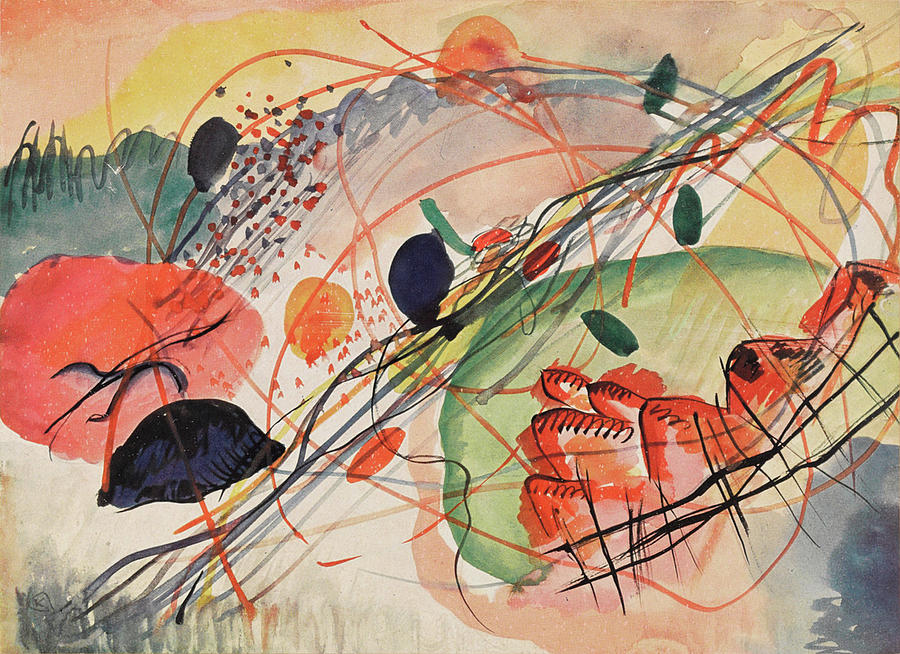 Background Painting - Watercolor 6 Wassily Kandinsky, 1911 by Wassily Kandinsky