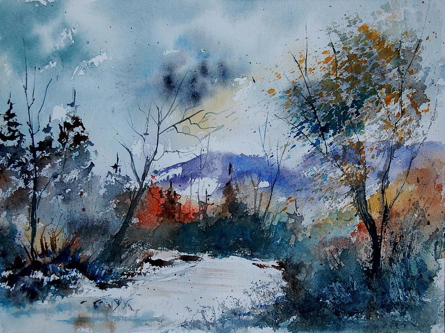 Landscape Painting - Watercolor 802120 by Pol Ledent