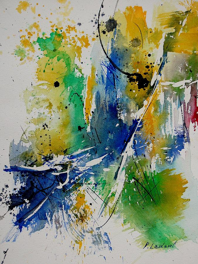 Abstract Painting - Watercolor  902180 by Pol Ledent